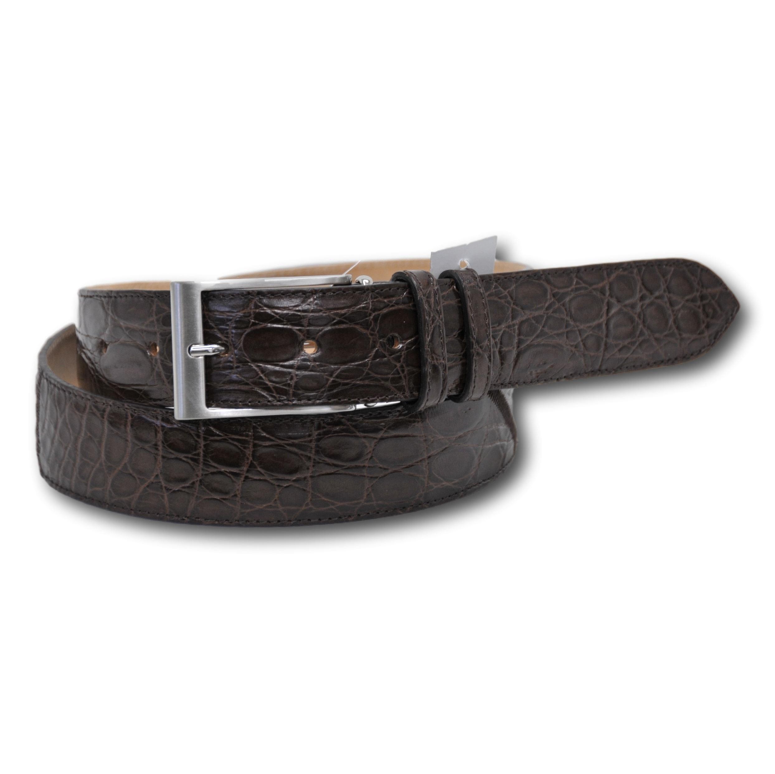 Cintura per uomo in vero cocco colore brown