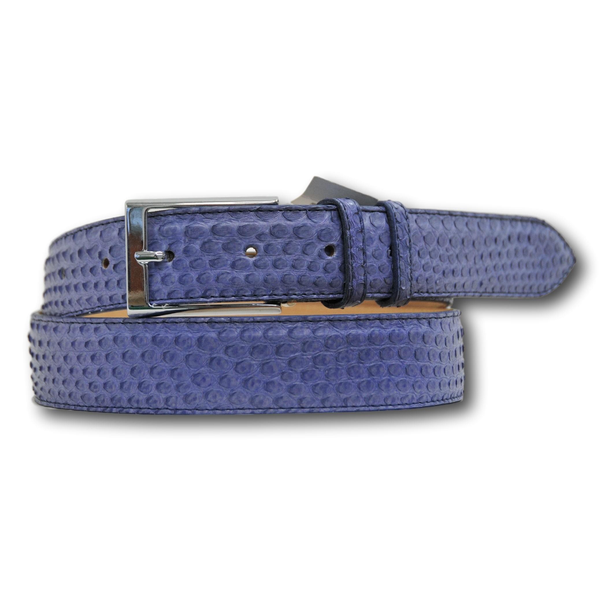 Cintura in vero pitone colore glicine