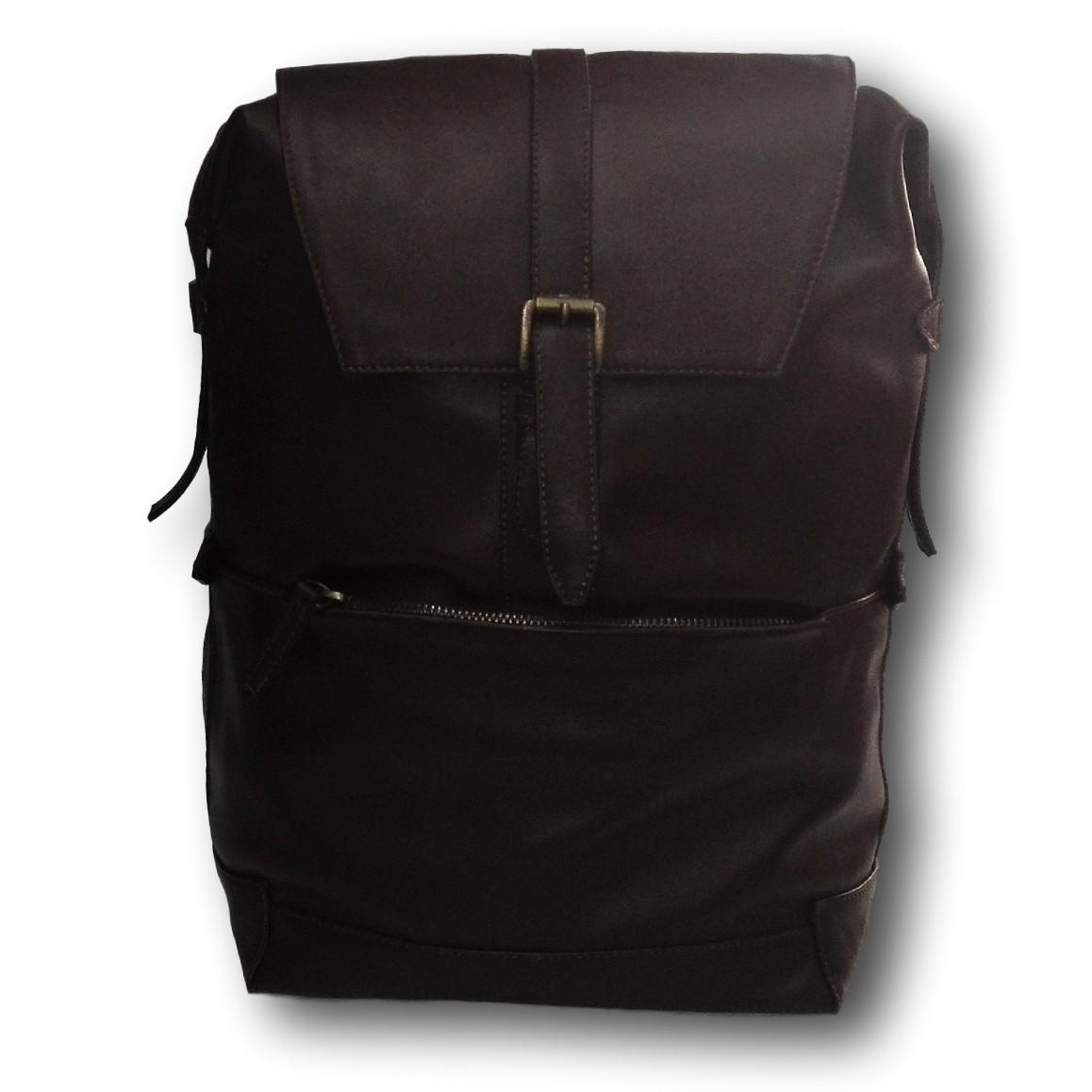 vendita calda online ec4d6 d717d Zainetto per uomo in vera pelle marrone