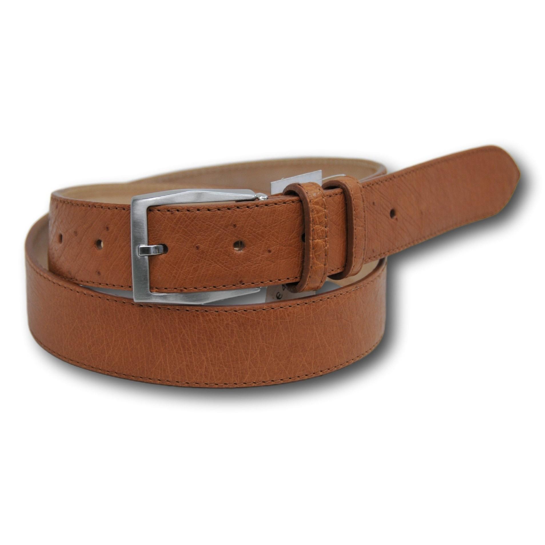Cintura in vera pelle di struzzo